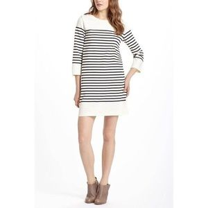 Anthropologie Ivory Black Nautical Striped Dress